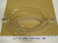 Vintage Large Decorative Clear Glass Oval Waterfall Serving Dish or Bowl - EUC