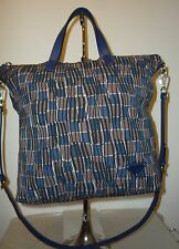 Authentic Navy Black and Brown Multi PRADA Tote Shopper Shoulderbag Two Way