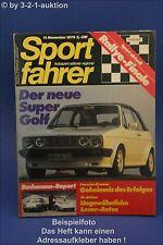 Sportfahrer 11/79 Golf Cabrio Nothelle Alfetta GTV Delt