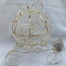 Cinderella Carriage, Silver Wire and Rhinestones - Wedding Table Decoration