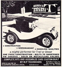 1969 BERRY MINI-T DUNE BUGGY  ~ ORIGINAL SMALLER SIZE PRINT AD