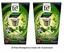 20 Nespresso Compatible Pods - Origen Tea, Marrakech Green Tea, 20 Pods