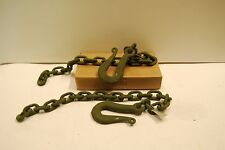 "TRAILER SAFETY CHAINS CM HOOK 7339460 ,  11636654-4 35.5"" LONG LOT OF 2 NEW"