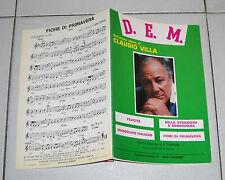 Spartiti Songbook CLAUDIO VILLA 4 canzoni – OTTIMO 1987