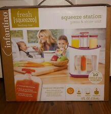 Infantino Fresh Squeezed Squeeze Station Press & Store Unit w/ 10 Pouches New