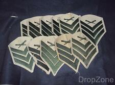 10 x USMC Sergeant Sgt Shirt Insignia / Cloth Patches Rank Chevrons
