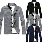 NEW Men's Jacket Slim Collar Coat Overcoat Winter Casual Outwear Jacket Blazer