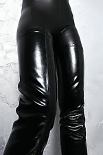 1969 ITALY LEDER HOHE Overknee Lange Stiefel High Heel Z31 Stretch Boots Leather
