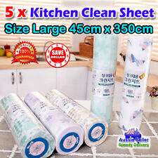 5x 45x350 Kitchen Drawer Cupboard Shelf Table Liner Underlay Clean Sheet Contact