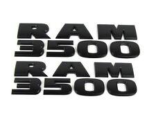 2005 - 2016 DODGE RAM 3500 FENDER / DOOR EMBLEMS LETTERING SET 2 SIDES BLACK