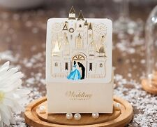 Fairytale castle wedding favor boxes Cinderella / package 50 pieces per set