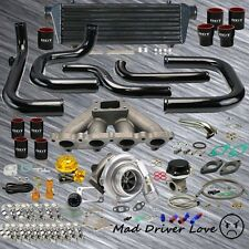 92-00 HONDA CIVIC D15/16 D-SERIE SOHC BOLT ON .57A/R TURBO KIT BLACK TYPE-RS BOV