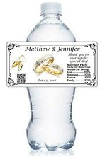 20 BRIDAL SHOWER / WEDDING WATER BOTTLE LABELS WATERPROOF GLOSSY PARTY FAVORS