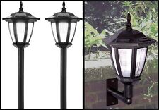 Outdoor Solar Lights Post Landscape or Wall Mount LED Garden Solar Lights 6 Pack
