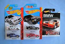 2015 HOT WHEELS  BMW E36 M3 Race  Black  Red White Blue Bronze  X 5