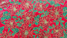 "christmas fabric multicoloured 100%cotton 46-59"" PRICE PER 1/2 yard now reduced"