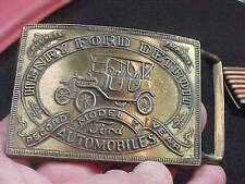 "Awesome Henry Ford Detroit Model ""T"" Automobile Car Belt Buckle Brass   (14H1)"