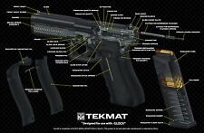 GLOCK 9mm PISTOLA Cut-away PISTOLA armaiolo Bench Laptop Tappetino SOFT AIR POLIZIA TekMat