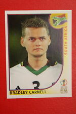 PANINI KOREA JAPAN 2002 # 156 SOUTH AFRICA CARNELL WITH BLACK  BACK MINT!!!
