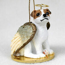 Jack Russell Dog Figurine Angel Statue Brown/White Smooth
