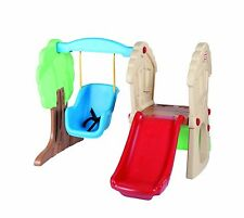 Toddlers First Playground Set Swing Slide Kids Outdoor Play Area Rock Climbing