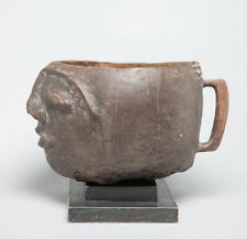 Lozi Anthropomorphic Cup, Zambia, African Tribal Arts, domestic artifacts