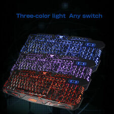 3 Colors LED Backlight Pro Gaming Keyboard M200 USB Wired for PC Laptop Gamer