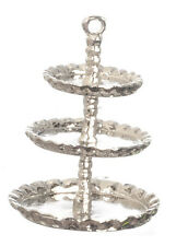 Silver Cake stand, Dolls House Miniatures Kitchen Accessory Cooking
