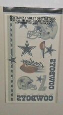 DALLAS COWBOYS SHEET OF 7 TEMPORARY TATTOOS LOWEST PRICE ON EBAY FAST SHIP