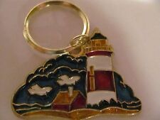 Stained Glass Style, Light House Key Chain