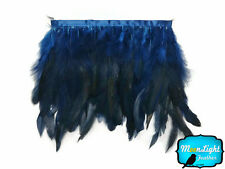 1 yard - NAVY Chinchilla Rooster Feathers Trim