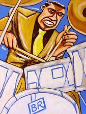 BUDDY RICH PRINT poster jazz drum battle cd pearl snare ludwig man cave cymbals