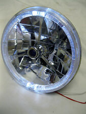 """97-15 Jeep Wrangler 7"""" LED White Halo Round Chrome Clear Headlights Replacement"""