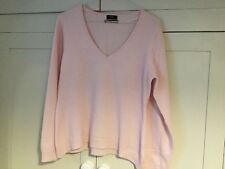 Pale Pink F+F Cashmere V Neck Jumper 16