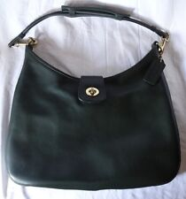 Coach Vintage Leather Shoulder Bag Green 9719 Very Rare Style Made USA Awesome