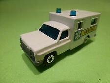 MATCHBOX 41 CHEVY CHEVROLET - AMBULANCE - WHITE 1:65? - GOOD CONDITION
