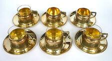 6 x Teeglashalter Silber Wien um 1900  Jugendstil
