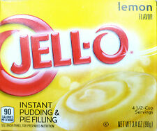 JELL-O ~ LEMON ~ 4.5 cup servings Pudding & Pie Filling Dessert