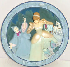 Walt Disney Cinderella Princess Fairy God Mother 3 D Collector Plate Retired