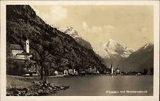 Flüelen Kanton Uri Schweiz s/w AK 1927 gelaufen Gesamtansicht mit Bristenstock
