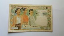 BANKNOTE  FRENCH INDO-CHINA 100 PIASTRES 1954  PICK 108