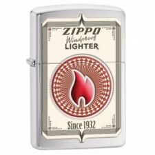 Zippo Trading Cards Brushed Chrome Lighter Brand New