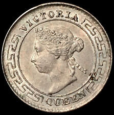 1894 Silver Ceylon 10 Cents Queen Victoria Coin Unciruclated Condition