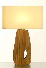 LAMPE à poser / de Chevet en BOIS Abat Jour BLANC - de Style ANNEES 50