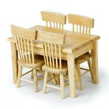 Doll's house dining table and 4 chairs 1:12 scale - UK Business