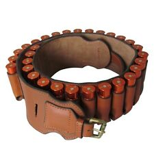 Tourbon 20GA Bandolier Cartridges Belt Shotgun Ammo Holder Real Leather Vintage