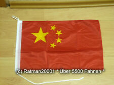 Fahnen Flagge China Bootsfahne Tischwimpel - 30 x 40 cm