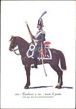 STAMPA UNIFORMI STORICHE - CARABINIERE A CAV. - TENUTA DI PARATA - 1814 - DEGAI