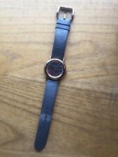 Marc JACOBS Leather Rose Gold Donna Orologio Regalo Marrone WOMANS Designer