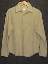 ZEGNA Beige Terry Slim Fit Casual Shirt SZ M